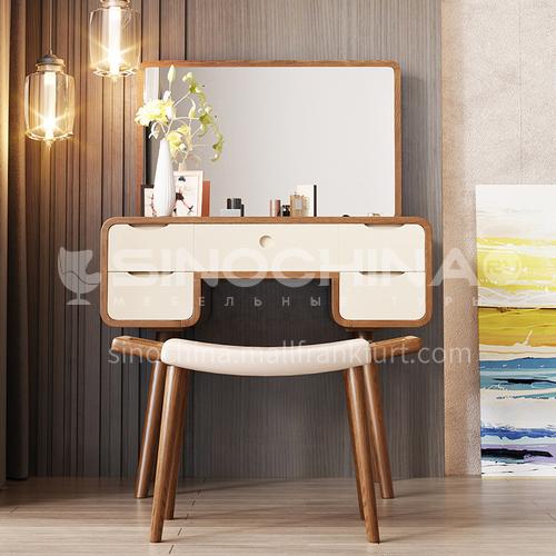 CL-102-B- Nordic minimalist style, environmentally friendly MDF, veneer, external paint, Nordic minimalist dressing table