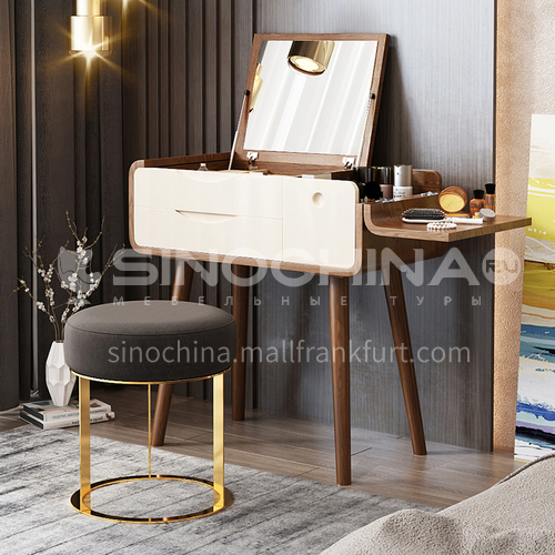 CL-TZ104- Nordic simplicity, fiberboard, ash wood feet, mirror glass, simple dressing table