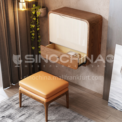 CL-TZ208- Nordic modern style, high density board, mercury mirror, piano paint, hydraulic and pneumatic rod, Nordic modern dressing table
