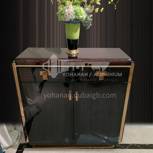 BJ-M1 living room entrance cabinet light luxury simple large capacity shoe cabinet + metal parts