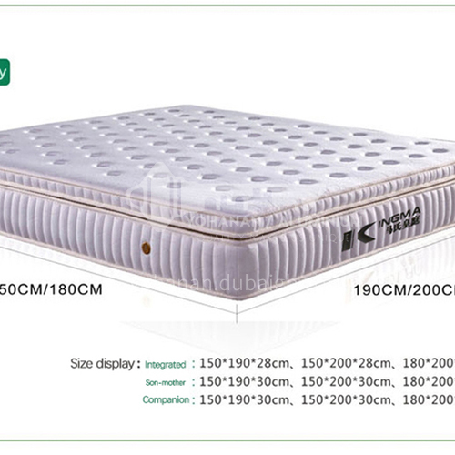 CL-S202- Belgian knitted fabric, high elasticity fluffy cotton, high density sponge, 5CM latex, nine-zone independent spring, natural latex mattress