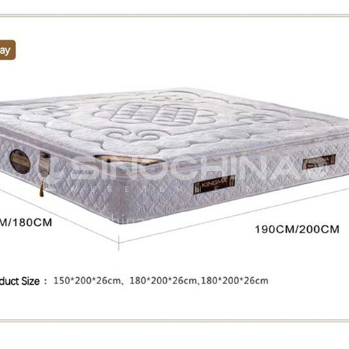 CL-S216- Imported knitted fabric, high carbon steel spring, natural latex mattress