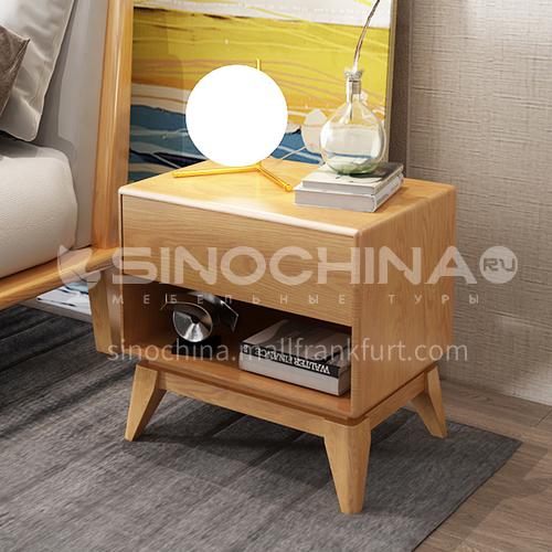 CL-SW-03- Nordic minimalist style, ash solid wood feet, high density board, hardware rails, Nordic minimalist bedside table