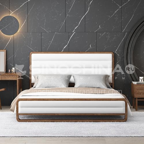 CL-SW-23- Nordic minimalist style, ash wood feet, MDF veneer, Nordic minimalist bedside table