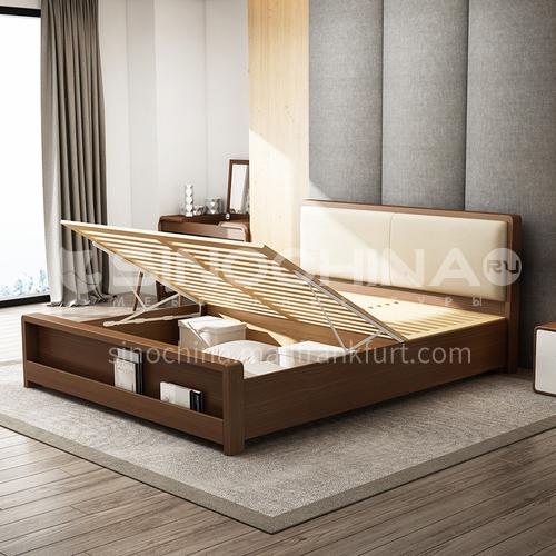 CL-W2017- Scandinavian minimalist style, solid wood drawers, piano paint, MDF veneer, Scandinavian minimalist bedside table