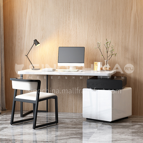 CL-ZS201 Home office high density board, matte metal feet, piano paint desk