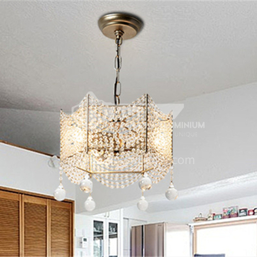 American country chandelier living room retro silver creative bar table dining lamp WX-D9095