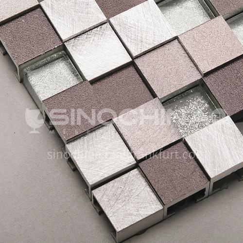 Aluminum (uneven surface) metal mosaic