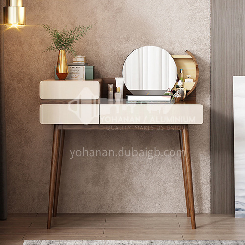 CL-TZ112- Nordic minimalist style, high density board, piano paint, ash wood, Nordic dressing table