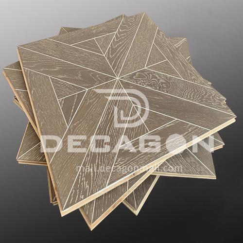 15mm multi-layer solid wood art parquet flooring oak02