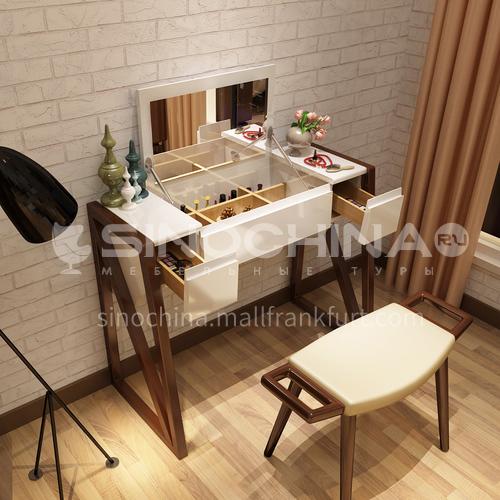 CL-W6002- Scandinavian minimalist style, ash solid wood, sponge cushion, stylish minimalist makeup chair