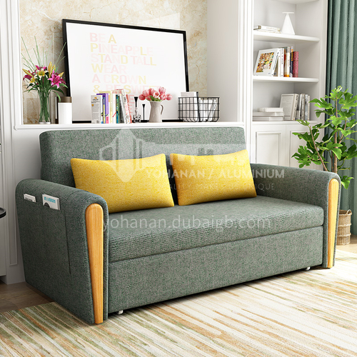 YT*803 customer Nordic modern and simple sleepable sofa bed + multifunctional foldable sitting and sleeping dual-use + inner frame full iron frame + multiple color options