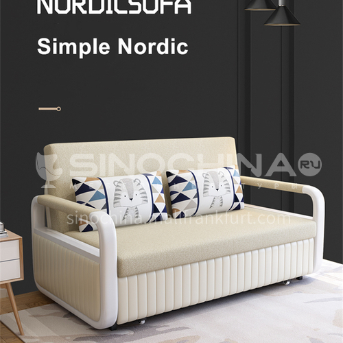 YT-868 customer Nordic modern and simple sleepable sofa bed + multifunctional foldable sitting and sleeping dual-use + multiple color options + multiple size options
