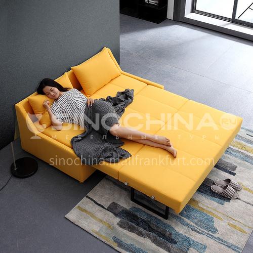 YT-6091-Living room Nordic modern leisure folding multifunctional modern fabric sliding sofa bed