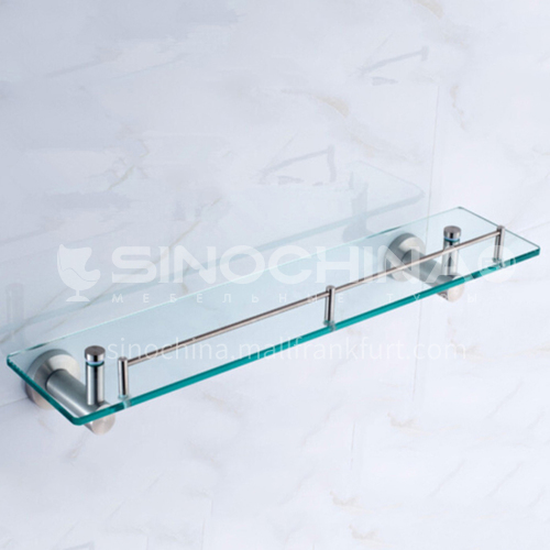 Bathroom stainless-steel glass shelf