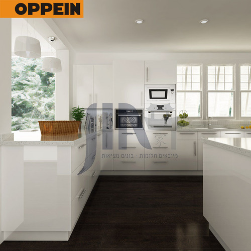 Modern design  UV lacquer with HDF kitchen cabinet-OP14-L01