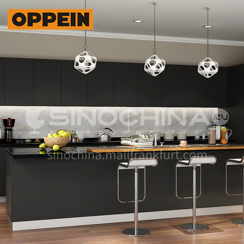 Modern design  UV lacquer with HDF kitchen cabinet-OP16-L14