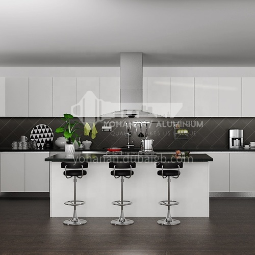 Modern design  UV lacquer with HDF kitchen cabinet-OP15-PVC06