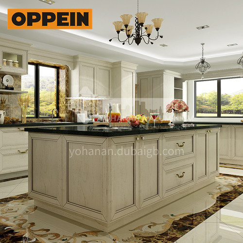 Classical design solid wood kitchen cabinet-OP16-S05