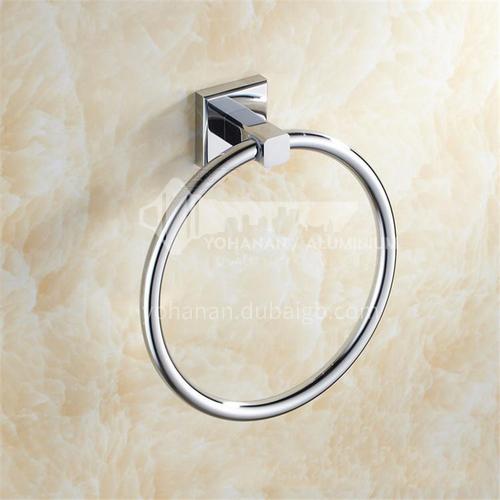 Bathroom bathroom wall silver round wall hanging towel rack8605