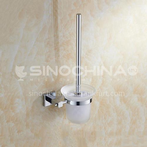 Bathroom bathroom wall mounted stainless steel matte glass toilet brush set8608