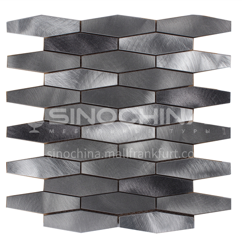 Aluminum Wide Hexagon Shaped Metal Mosaic