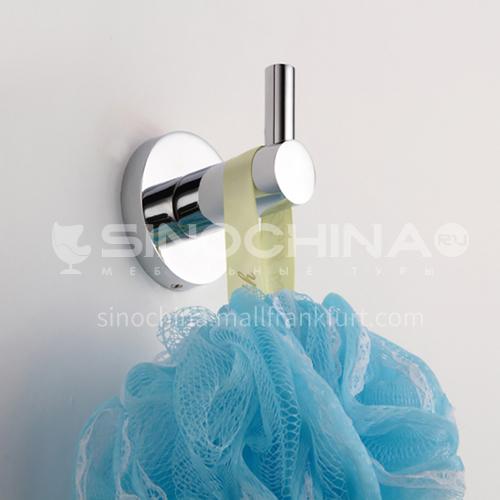 Bathroom silver stainless steel coat hook
