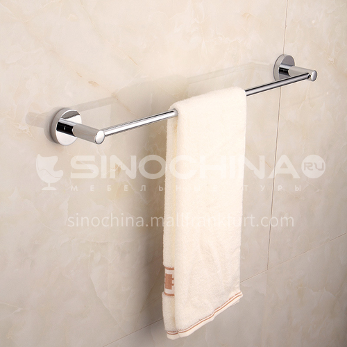 Bathroom silver stainless steel single rod towel rack