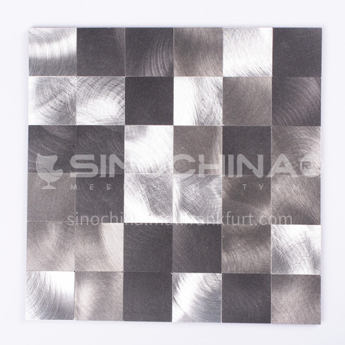 Aluminum Square Shaped Vibration Metal Mosaic
