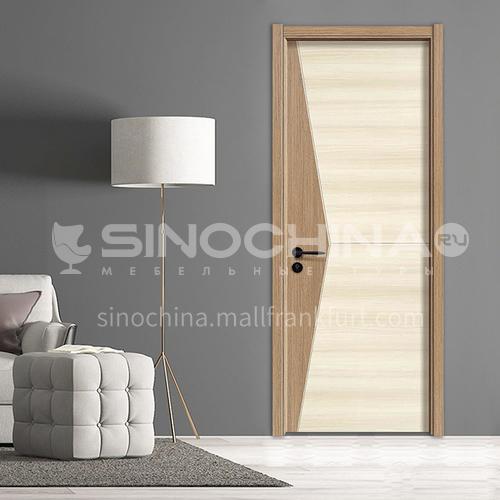 Simple design paint free MDF wooden door hotel apartment room door 45