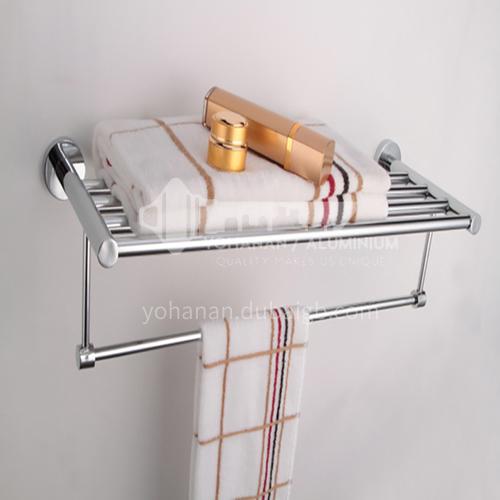 Bathroom silver stainless steel towel rail