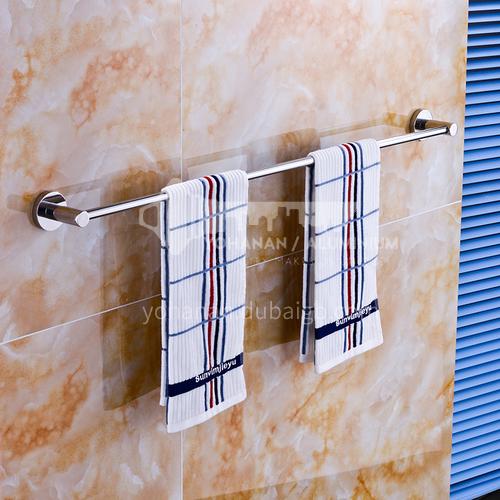Bathroom silver stainless steel single rod towel rack