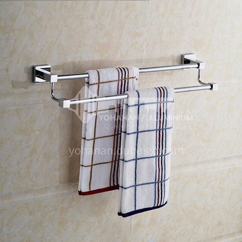 Bathroom stainless steel double - rod towel rack