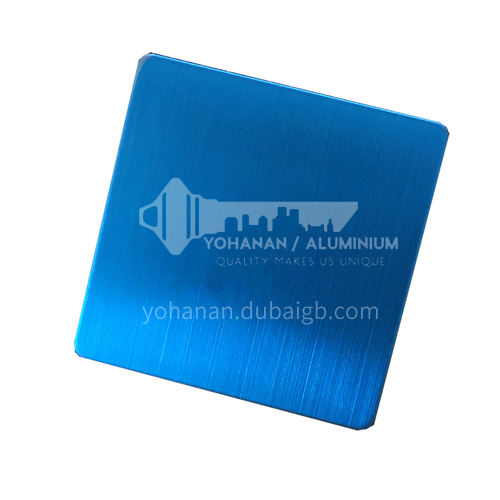 Stainless steel matte (hairline) blue plate