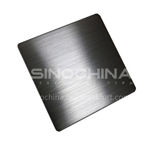 Stainless steel plate matte (hairline) black #201#304