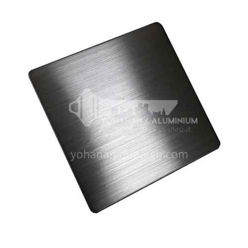 Stainless steel plate matte (hairline) black #201#304