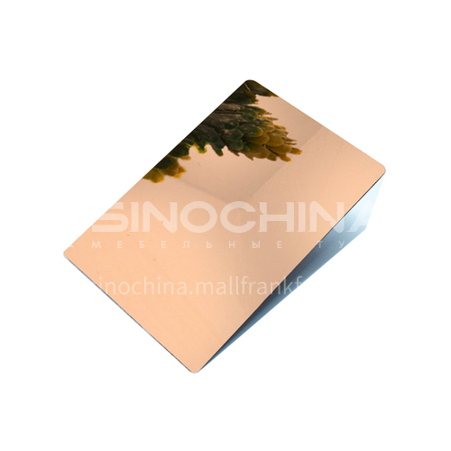 Stainless steel mirror rose gold plate 304
