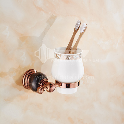 Bathroom rose gold stainless steel toothbrush single cup