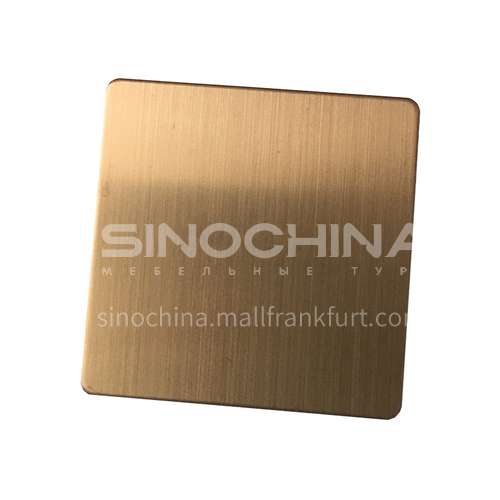 Stainless Steel Matte Rose Gold Plate
