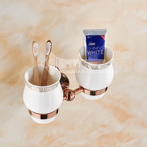 Bathroom Rose gold toothbrush cup double cup