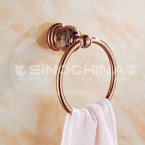 Bathroom rose gold stainless steel towel ring