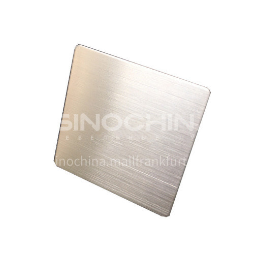 Stainless steel sheet matte hairline silver