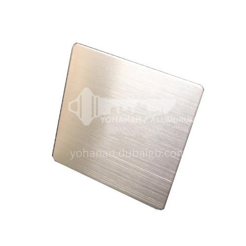 Stainless steel sheet matte hairline silver
