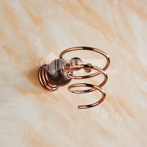 Bathroom rose gold stainless steel hair dryer tube