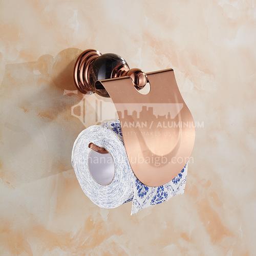Bathroom rose gold stainless steel tissue holder