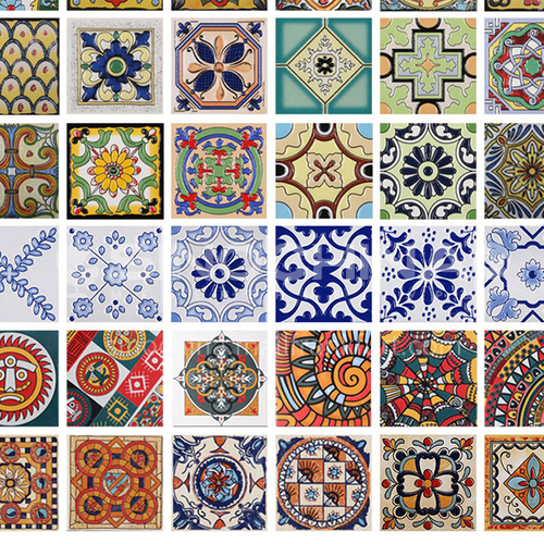 European style retro balcony blue and white porcelain small tiles 100 stairs wall tiles kitchen waist line 100 tiles bathroom-SSFYF0 100mm*100mm