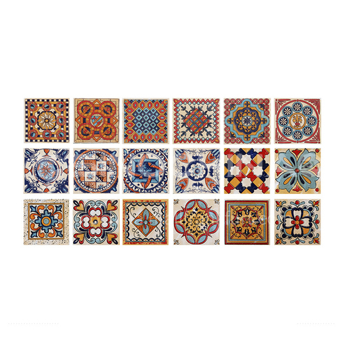 European style retro balcony blue and white porcelain small tiles 100 stairs wall tiles kitchen waist line 100 tiles bathroom-SSFYF156 100mm*100mm