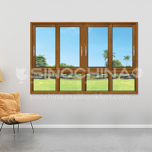 1.4mm aluminum two track sliding windows