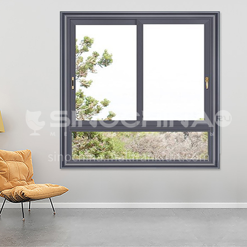 1.4mm aluminum alloy two-track sliding window