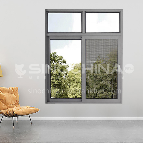 1.4mm sound insulation and heat insulation three-track sliding window with stainless steel gauze 2